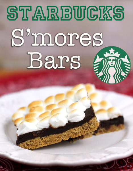 Starbucks Inspired Oven Baked Smore Bar Recipe