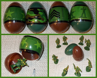 12 Toy Soldier Eggs; Amscan; Blues; Capsule Eggs; Capsule Toys; Chahai; Easter Eggs; Easter Soldiers; Easter Toys; Egg Soldiers; Filled Eggs; Fun Express; Greys; Imperial Pilots; Jaru 'fritz helmet' GI's; Matchbox US Infantry; Omaha - Nebraska; Oriental Trading Co.; Party Pig; Plastic Warrior Issue 82; Plastic Warrior Magazine; Sci Fi Figurines; Sci Fi Toys; Science Fiction Figures; Small Scale World; smallscaleworld.blogspot.com; Tombola; Vaders;