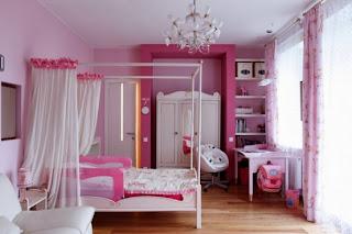 habitación rosa infantil
