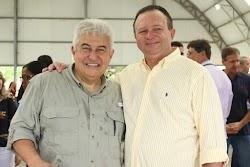 Vice governador Carlos Brandão recepciona e acompanha Ministro da Ciência Marcos Pontes em Alcântara