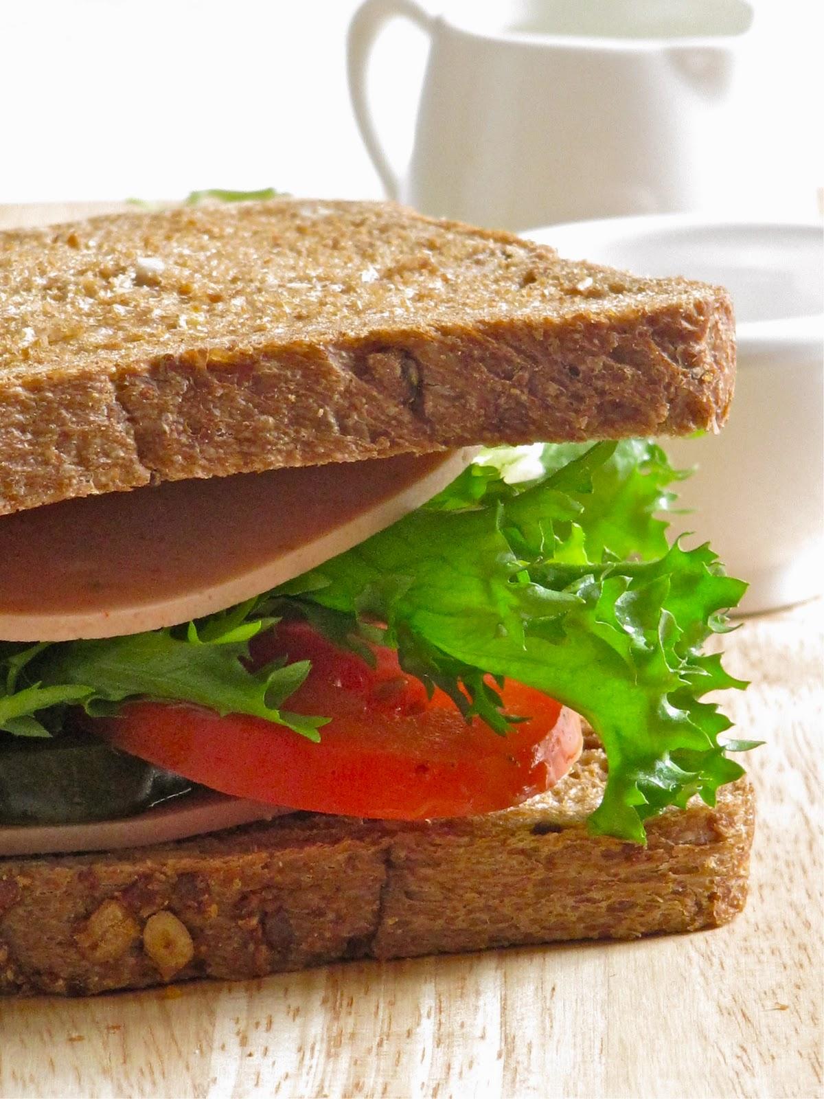 Plateful Grilled Chicken Mortadella Sandwich