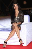 Pooja Hegde looks glamarous in deep neck sleevless short tight golden gown at Duvvada Jagannadham thank you meet function 078.JPG