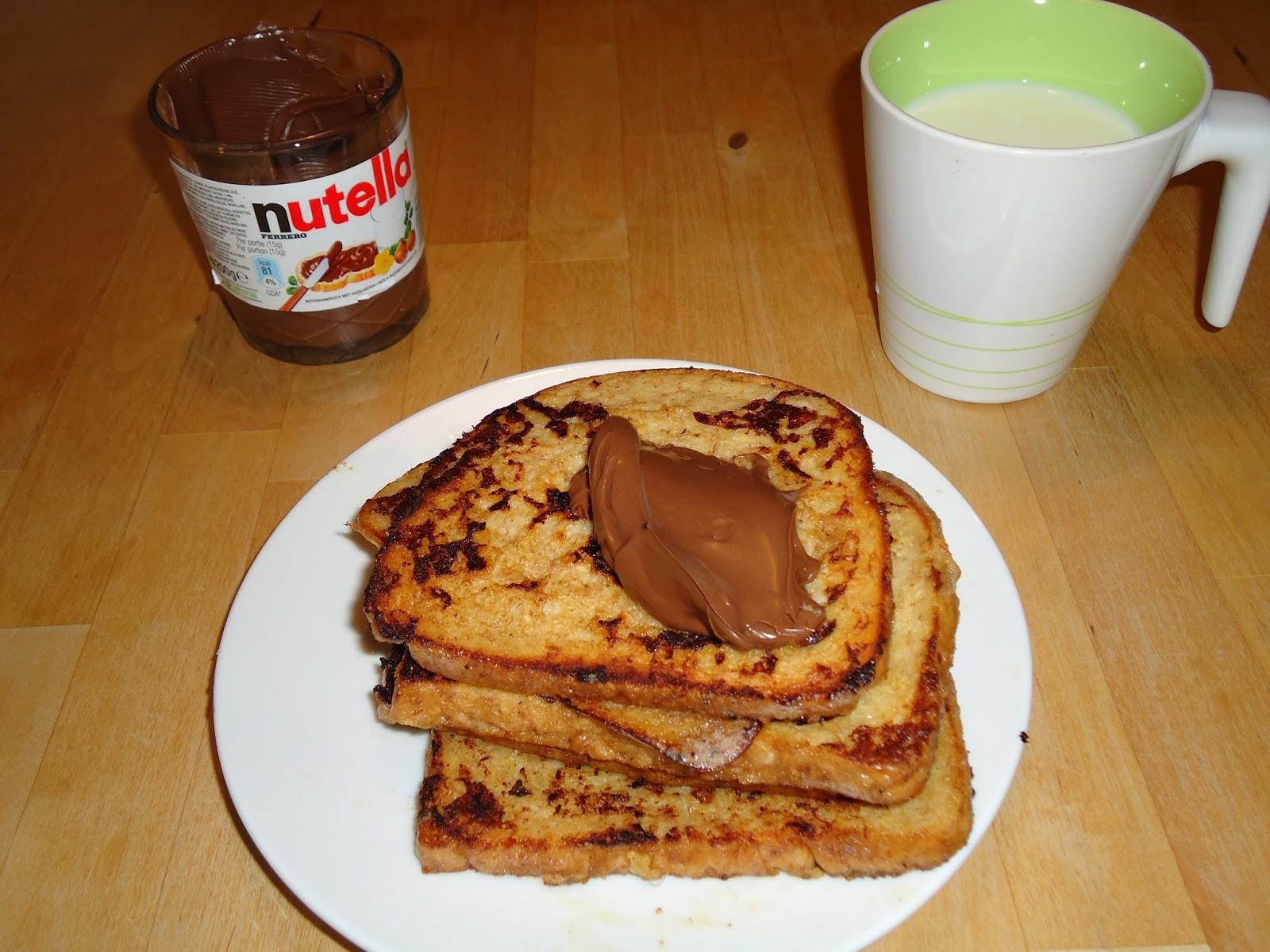 chroazfood pain perdu au banane et nutella. Black Bedroom Furniture Sets. Home Design Ideas