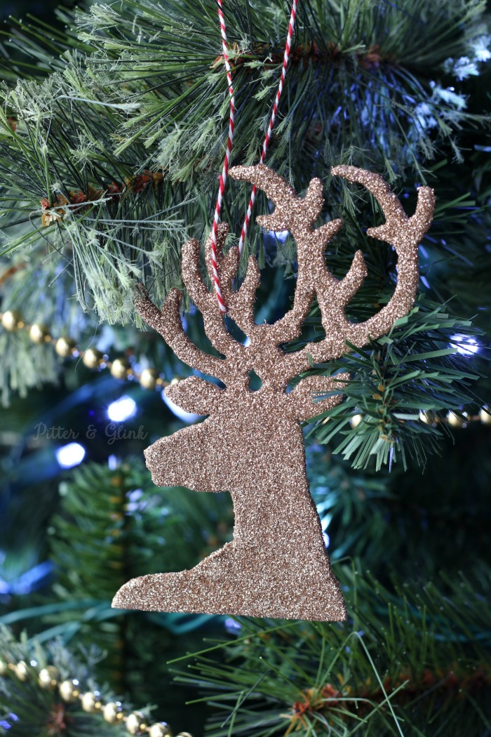 DIY Sparkly Reindeer Ornaments
