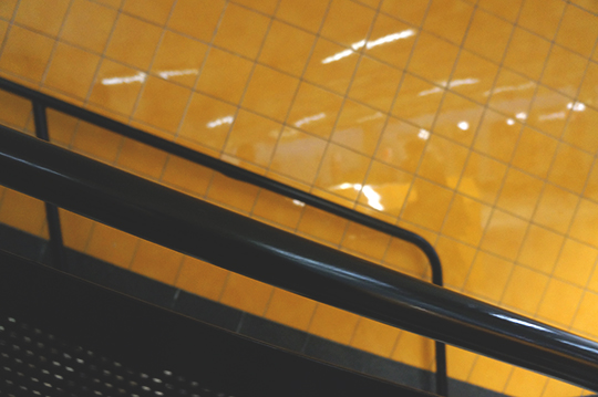 urban photography, abstract, photo, art, urban photo, city life, yellow tiles, Sam Freek, contemporary,