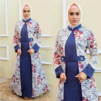 Model Gamis Batik Pesta Yang Modern Dan Trendi