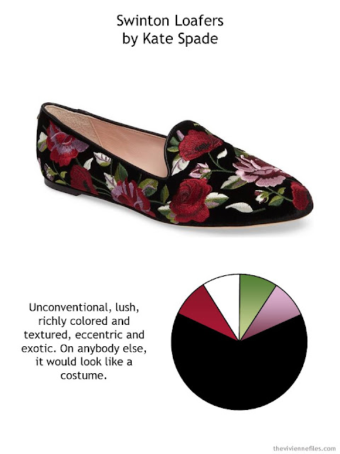 Swinton black floral loafers by Kate Spade New York