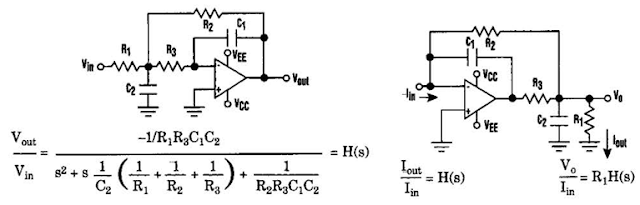 Current-Driven Sallen Key Filter Circuit Diagram