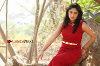 Telugu Actress Zahida Sam Latest Pos in Red Gown at RF Films New Movie Opening  0350.JPG