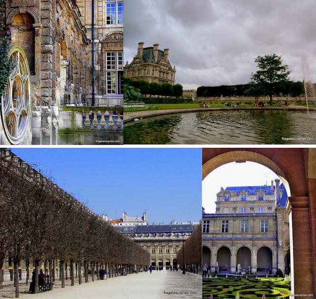 Hôtel de Sully, o Jardim das Tulherias, o Museu Carnavalet e o Jardim do Palais Royal