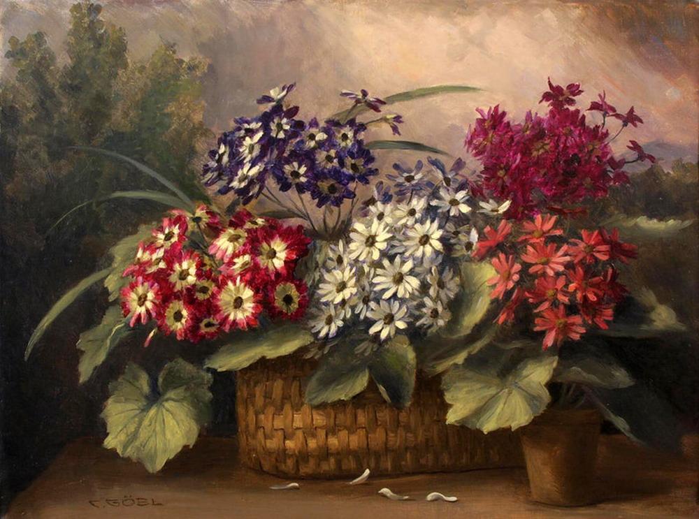 Im genes arte pinturas canastas y jarrones con flores y - Fotos jarrones con flores ...