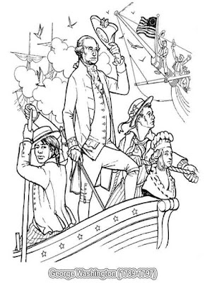 american presidents george washington coloring pages