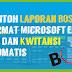 Contoh Laporan BOS SD Format Microsoft Excel - SPJ dan Kwitansi Otomatis