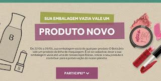 Promoção Boticário Recicla