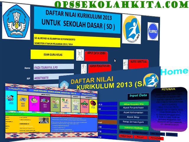 Kumpulan Raport Kurikulum 2013 dan KTSP SD/MI|SMP/MTs|SMA/MA 2016 Administrasi Guru