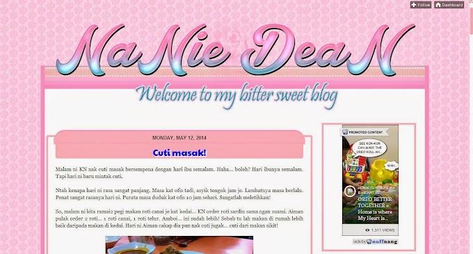 Tempahan Design Blog Nanie Dean