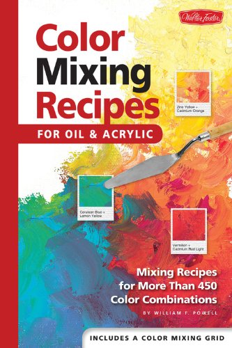 Color Mixing Recipes for Oil & Acrylic - Mixing recipes for more than 450 color combinations by William F Powell