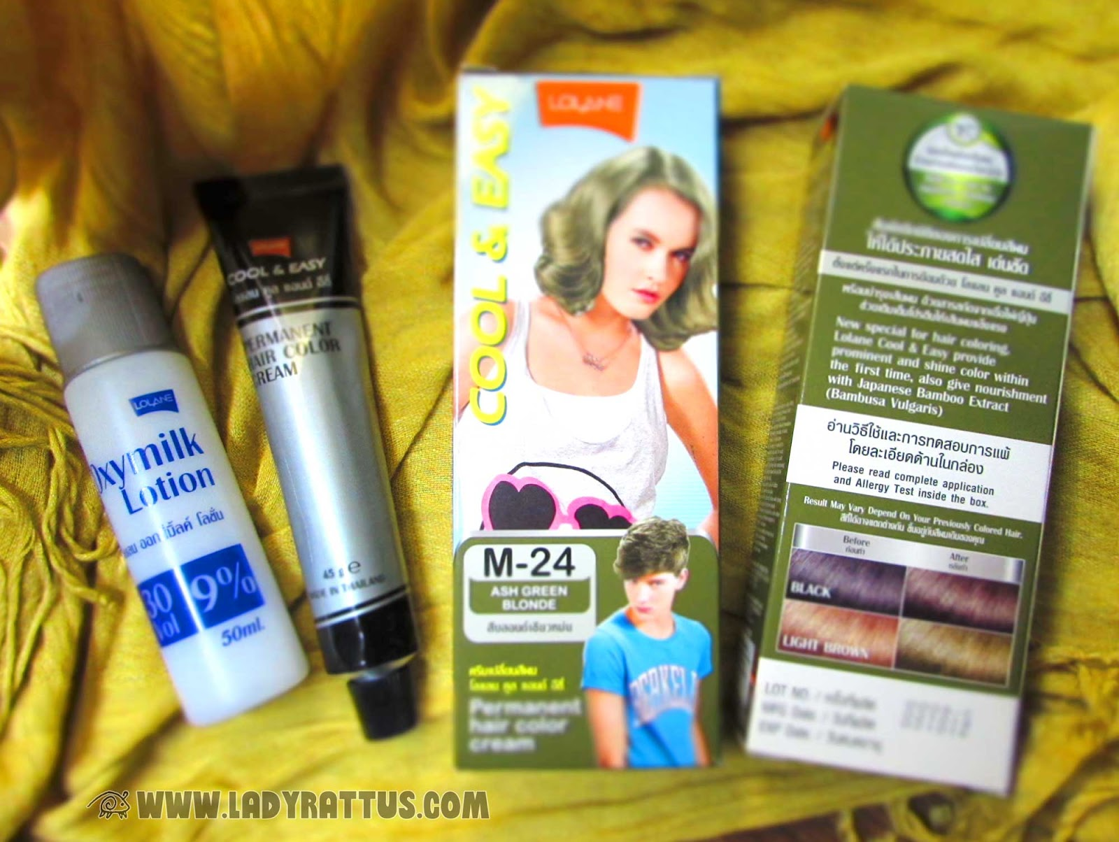 Review Lolane Cool And Easy Permanent Hair Color In Ash Green