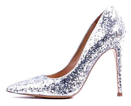 3d7472e3053 Silver, glittery, high heeled shoes (without a ridiculous price tag ...