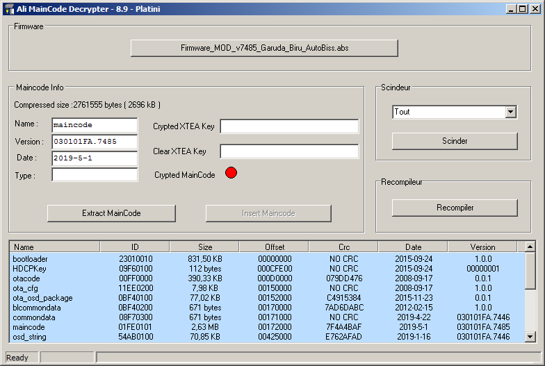 Download Firmware Decrypter Ali MainCode Editor Software