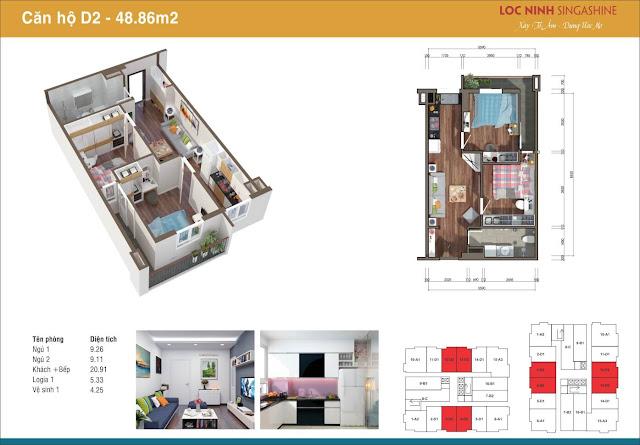 Một căn hộ điển hình chung cư Lộc Ninh