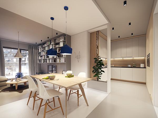 This Is Simple and elegant apartment interior design ideas with warm ...