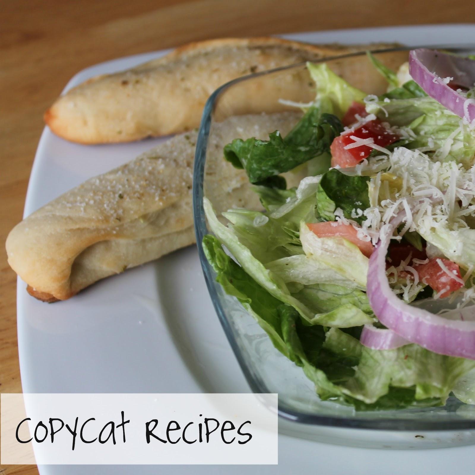 Copycat recipes olive garden salad breadsticks at the - Olive garden breadsticks copycat recipe ...