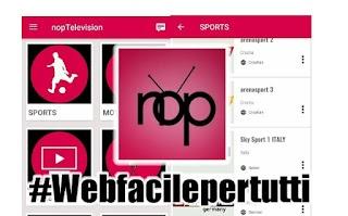 nopTelevision |  Applicazione Andorid  Per Guardare Film, Cinema, Sport e Canali TV Satellitari