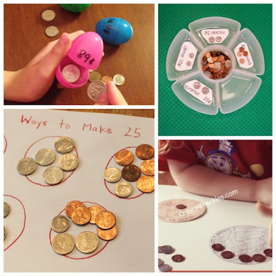 Math Coin Activities for Preschool and Kindergarten