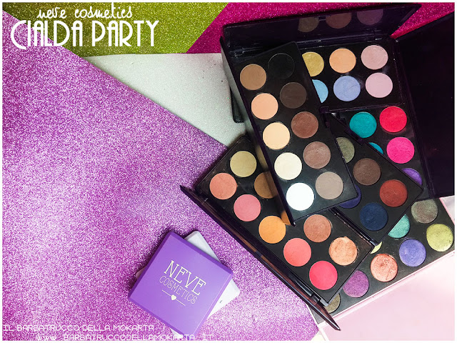 ombretti  neve cosmetics cialda party review recensione makeup
