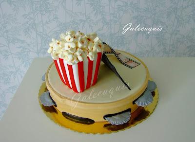 Palomitas dulces de nube para tartas