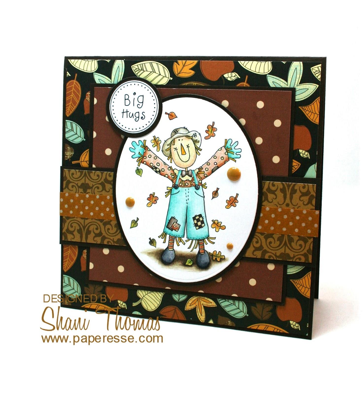 Paperesse Hugs – Happy Birthday – Happy Thanksgiving card