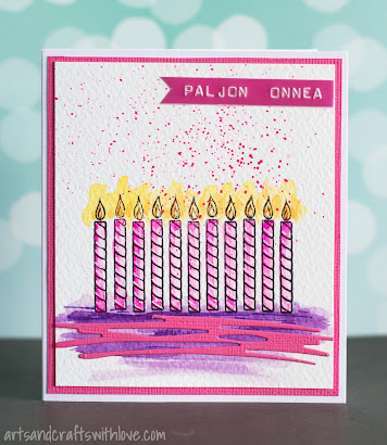 The Candle Stamp Image Had Originally 10 Candles In A Row My Task Was To Make One Card For 9 Years Old Birthday Boy And Another An 11