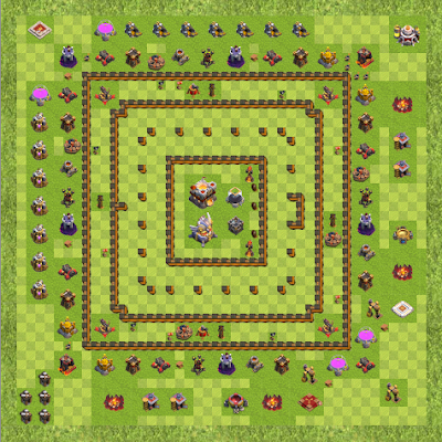 War Base Town Hall Level 11 By 645645 (One star TH 11 Layout)