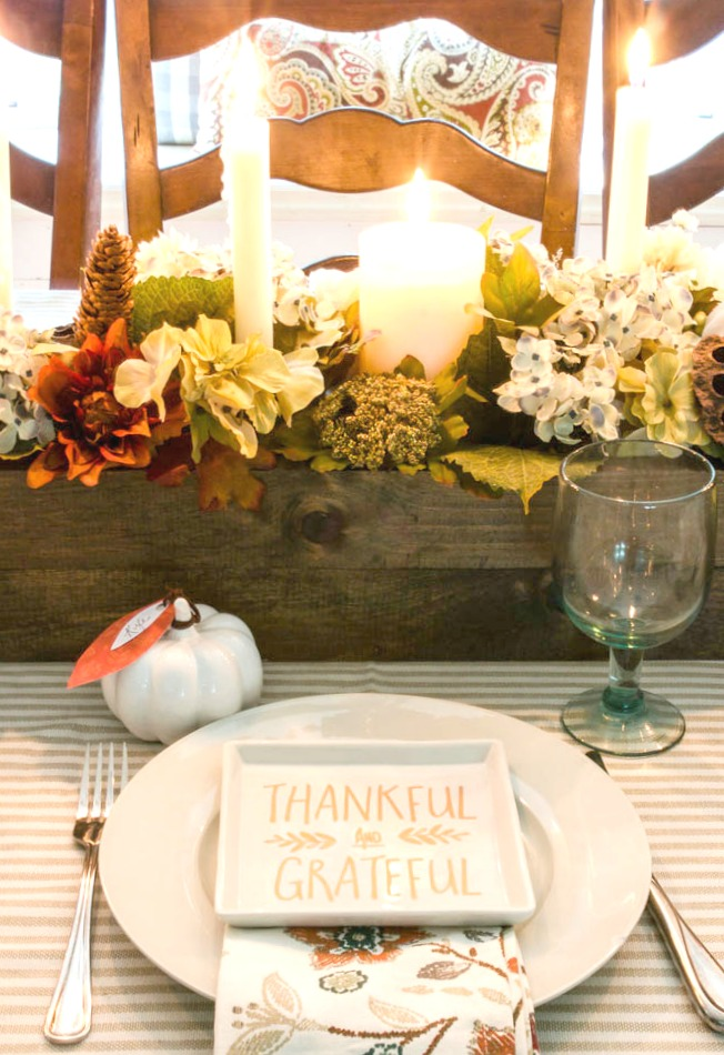 Fall place setting with Target dollar spot appetizer plates