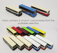 SFZ8 Assorted buses (x3) Colours/style may vary.