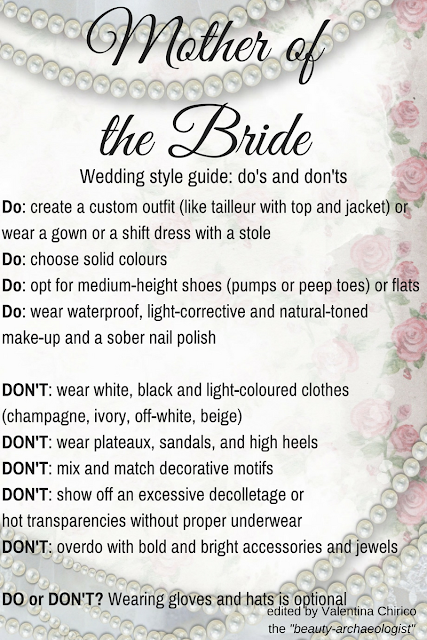 Mother of the bride: a wedding style guide with the golden rules, do's and don'ts by Valentina Chirico