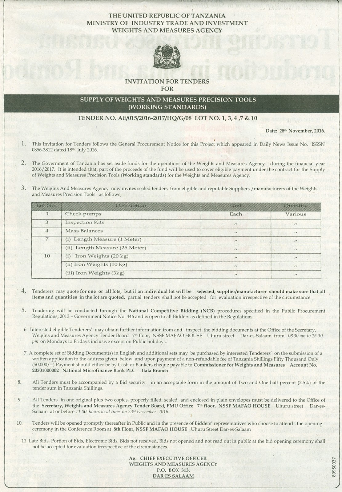 Invitation for tender ministry of industry trade and investment invitation for tender ministry of industry trade and investment stopboris Choice Image