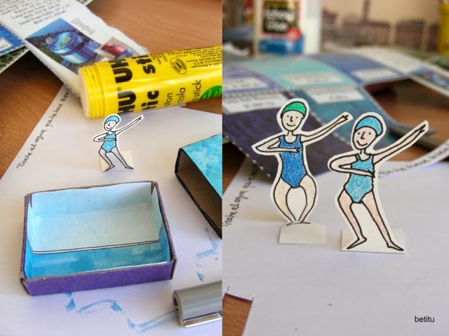 water aerobics in paper by betitu