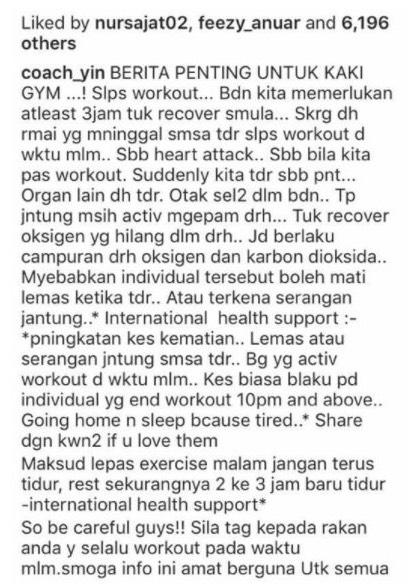 Tidur Lepas Work Out Boleh Bawa Mati? Pakar Jantung Jawab Dakwaan Dari Kekasih Sajat, Coach Yin