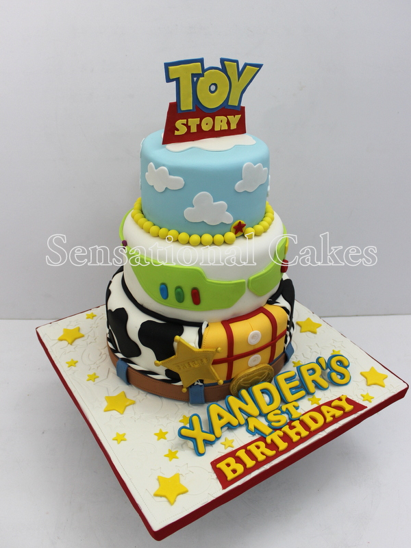 Toys For A 1st Birthday : Cakes share singapore d tiers toy story theme cake