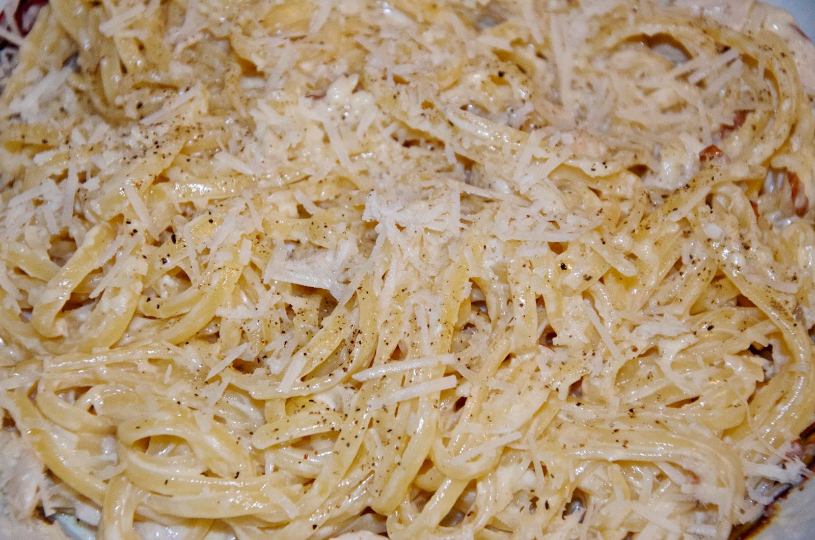 creamy pasta with chicken and cheese
