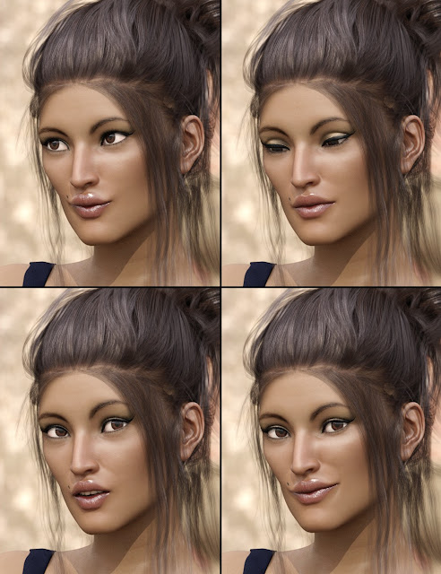 Simply Everyday Poses and Expressions for Genesis 3 Female
