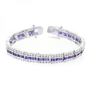 Purple Diamond Bracelet