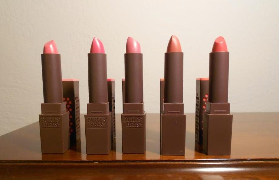 Burt's Bees five lipsticks.jpeg