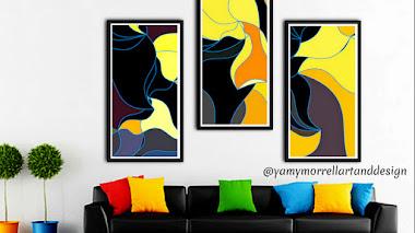 Tríptico abstracto: Sublime waves