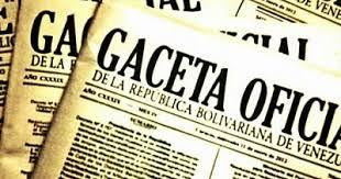 Véase SUMARIO Gaceta Oficial N° 41.587 de fecha 15 de febrero de 2019