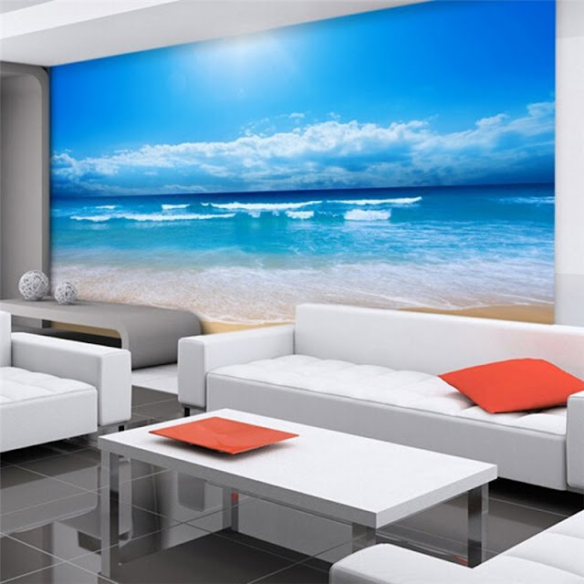 Beach Ocean Wall Murals Landscape Tropical Wallpaper Livingroom