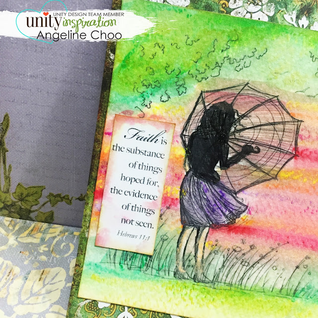 ScrappyScrappy: Unity Stamp Edgy & Cute Blog Hop + [NEW VIDEOS] - sunset Scene card #scrappyscrappy #unitystampco #stamp #card #papercraft #phyllisharris #watercolor #prima #oilpastel #cardmaking #youtube #handmadecard