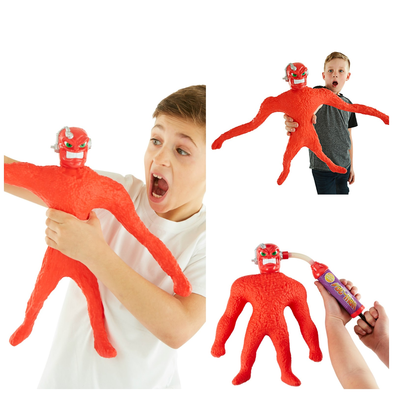 Vac Man promotional shots - see him stretch to 4 times his size